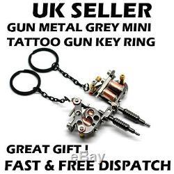 Mini Tattoo Gun Tattoo Machine Key Ring Key Chain Metal Xmas Bday Gift UK x 1