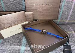 NEW Bvlgari Serpenti Bracelet Black Gold Blue Boxed Bulgari Christmas Gift
