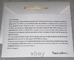 NEW Salvatore Ferragamo Mens Medium M Black Leather Belt Employee Christmas Gift