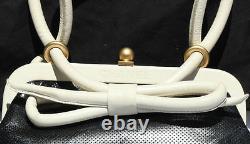 NEW VINTAGE CHANEL BAG HANDBAG BLACK AND WHITE LEATHER RUNWAY SAC gift