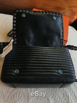 NWT Moschino lambskin leather biker jacket bag Christmas gift idea
