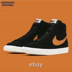 Nike Blazer Mid 77 Vintage Black Orange CJ9693-001 Men's Trainers Xmas Gift-Sale