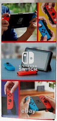 Nintendo Switch v2 Blue Red Joycons Console Bundle Rare XMAS Gift NIB NEW SEALED