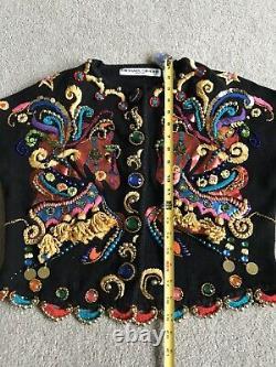 Nwot Michael Simon S M Carousel Horse Embellished Sweater Christmas Gift