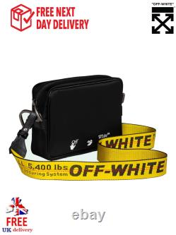 OFF WHITE C/O VIRGIL ABLOH Cross Body Bag Black Messenger Christmas Gift