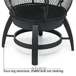 Outdoor Fire Pit Chiminea Fireplace Patio Firepit Burning Heater Xmas Gift US