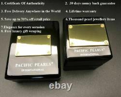 Pacific Pearls 12mm Tahitian Black Pearl Earrings with Diamonds Christmas Gifts