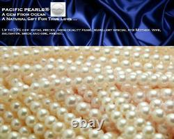 Pacific Pearls Genuine 7mm Black Akoya Saltwater Pearl Earrings Christmas Gifts