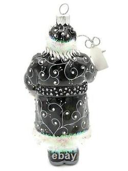 Patricia Breen Come Bearing Gifts Quilling Black Christmas Tree Holiday Ornament