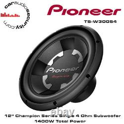 Pioneer TS-W300S4 12 Champion Series Car Bass Sub Subwoofer 1400W Brand New