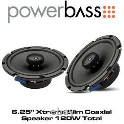 Powerbass 2XL-653T -6.25 Xtreme Slim 2-Way Coaxial Speaker System 120W Total
