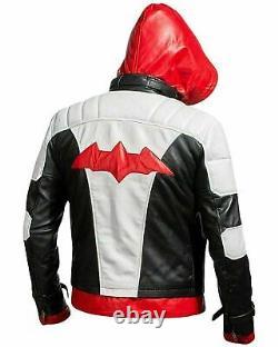 Red Hood Leather Jacket & Vest Batman Arkham Knight Game Costume