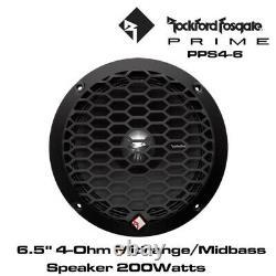Rockford Fosgate PPS4-6 Punch Pro 6.5 4-Ohm Midrange Speaker BNIB