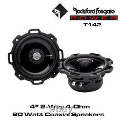 Rockford Fosgate Power T142 4 2-Way Full-Range Speakers Car Coaxial Speakers