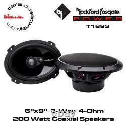 Rockford Fosgate Power T1693 6x9 3-Way Full-Range Car Shelf Speakers