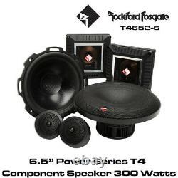 Rockford Fosgate Power T4652-S 6.5 2 Way Component Speaker System 300W