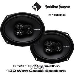 Rockford Fosgate Prime R169X3 6x9 3-Way Full-Range Speaker