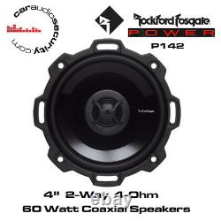 Rockford Fosgate Punch P142 4'' 2-Way Full Range Speakers 60 Watts
