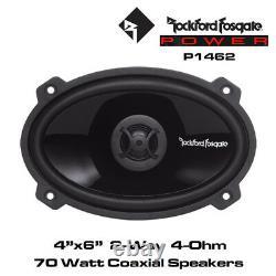 Rockford Fosgate Punch P1462 4x6 2-Way Full Range Speakers 70 Watts