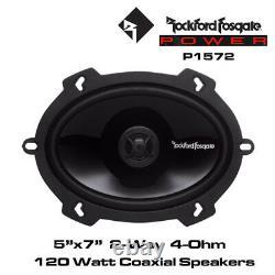 Rockford Fosgate Punch P1572 5x7 2-Way Full Range Speakers 120 Watts