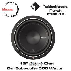 Rockford Fosgate Punch P1S2-12 12 Subwoofer 600 Watts 2-Ohm 600 Watts