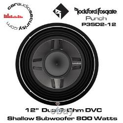 Rockford Fosgate Punch P3SD2-12 12 P3 2-Ohm DVC Shallow Subwoofer 800W