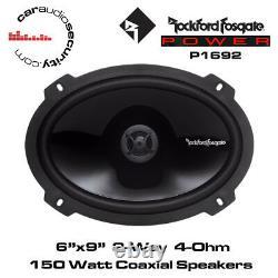 Rockford Fosgate Punch Series P1692 6x9 2-Way Full Range Speakers 150W