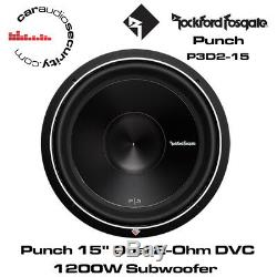 Rockford Fosgate Punch Series P3D2-15 15 P3 2-Ohm DVC Subwoofer