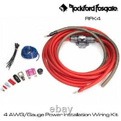 Rockford Fosgate RFK4 4 AWG/Gauge Power Installation Wiring Kit