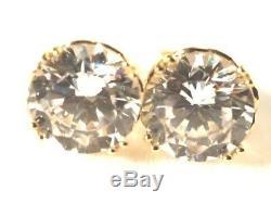 Rose gold Simulated Diamond stud earrings 9K rose gold, women gift, Xmas gift