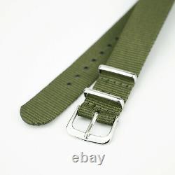 SEAGULL 1963 2021 Milan Steel + Nylon 2 Band Sapphire BLACK Mechanical Watch