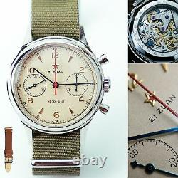 SEAGULL 1963 D304 Sapphire with Extra BAND Chronograph Mechanical Mens Watch