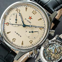 SEAGULL 40mm 1962 (NEW 1963) Exhibition X BLACK Leather Mechanical Watch
