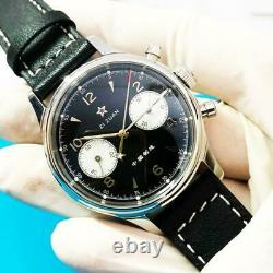 SUGESS SEAGULL 1963 BLACK DIAL Watch Sapphire Chronograph Mechanical Pliot