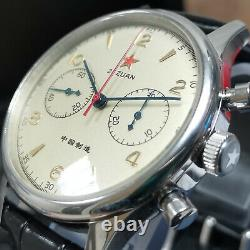 Seagull 1963 40mm Mechanical Pilot PLAN B Chronograph Sapphire Crystal SU1963B40