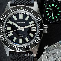 Seestern 62MAS 20ATM Genuine Ceramic Bezel 200m DIVER'S Watch SE2021-D62S-KK