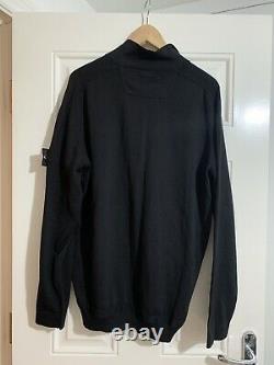 Stone Island Zip Cardigan, Black 3XL Christmas Gift Idea