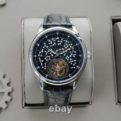 Sugess 2021 Tourbillon Blue GoldStone Seagull ST8230 Mechanical Watch SU8230STRB