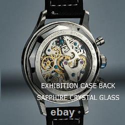 Sugess 40MM Race Panda Chronograph Mechanical Watch Seagull 1963 SUPANK002GN/SN
