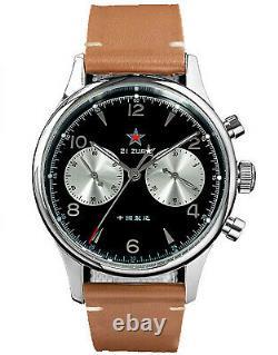 Sugess 40mm GOLD SWAN NECK White Panda Mechanical Watch SEAGULL 1963 SUPANK060SN