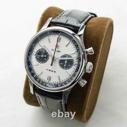 Sugess 40mm Gold SWAN NECK SEAGULL 1963 Chrono Mechanical MENS Watch SUPANK006SN