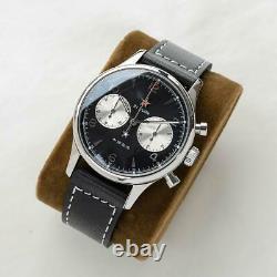 Sugess 40mm Gold SWAN NECK SEAGULL 1963 Chrono Mechanical MENS Watch SUPANK008SN