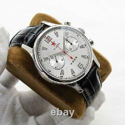 Sugess 40mm Gold SWAN NECK SEAGULL 1963 Chrono Mechanical MENS Watch SUPANK091SN