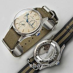 Sugess 40mm Gustav Becker Seagull ST1780 Mechanical Vintage Watch SU1780NSB 1963