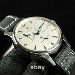 Sugess 40mm Gustav Becker Small Second + Power Reserve Mechanical Watch White