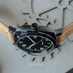Sugess 43mm BIG DIAL Gustav Becker California Dial Mechanical Men Watch SUPAM002