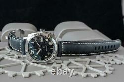 Sugess 43mm Gustav Becker California Dial TOUGH Mens PAM Mechanical Watch Silver