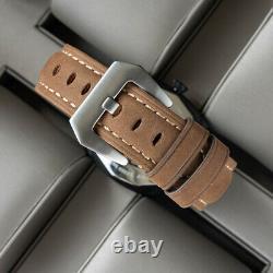 Sugess 43mm Gustav Becker TOUGH Skeleton Mechanical Mens PAM Watch SUPAMSK2