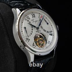 Sugess Automatic Tourbillon DayDate Seagull ST8004ZS Mechanical Watch SU8004SBEX