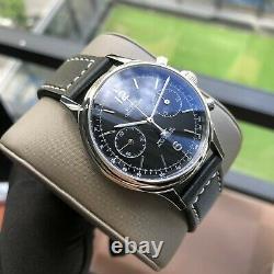 Sugess Black Style Fashion Chrono Chronograph Mens Dress Watch Seagull 1963